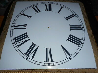 "Large Paper Clock Dial - 11 1/4"" M/T - Roman - Gloss White - Face/ Clock Parts"