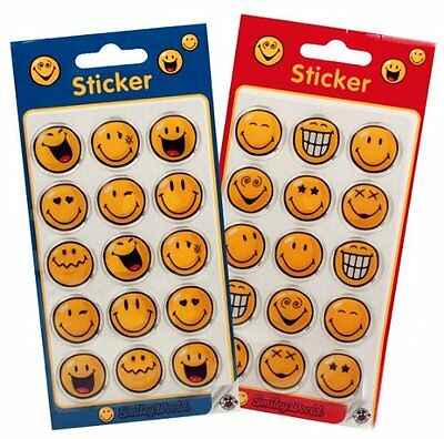 15 Pieces Smiley Smilie Smileys Sticker Decal SMILEYWORLD by Trendhaus Ø 22mm