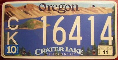 2011 Oregon Crater Lake National Park Centennial Special License Plate Auto Tag