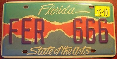 2010 Florida For The Arts Specialty License Plate Auto Tag Fla Fl Colorful # 666