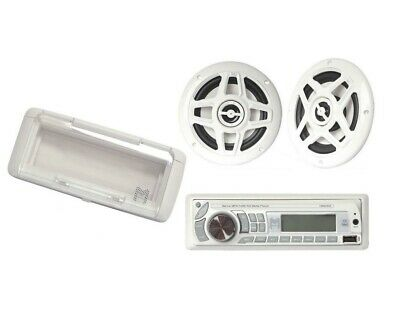 "Marine Head unit CD Player Radio Stereo CD MP3 USB SD + 6.5"" Speakers CM8H01PK"