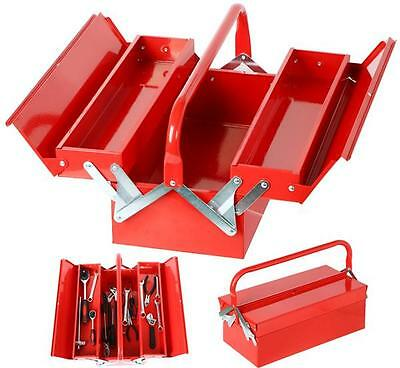 3 Tray Cantilever Toolbox Portable Storage Mechanic Tool Box Organizer