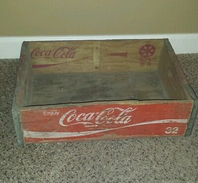 Vintage Rustic Condition Coca Cola Wood Crate for Home Decor Arts Crafts coke