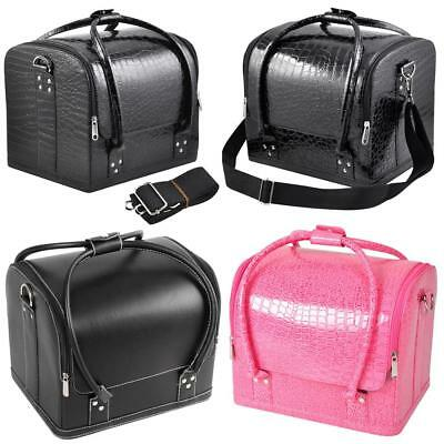 New Make Up Vanity Case Beauty Cosmetic PU Box Hairdressing Salon Nail Carry Bag
