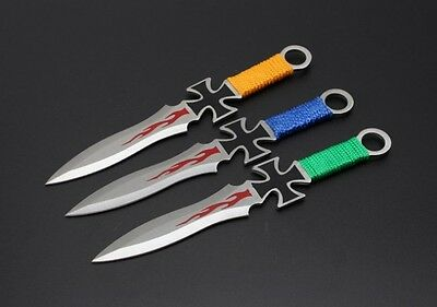 Set of 3 Throwing Knives Crusader High Quality Steel Aussie Seller Fast