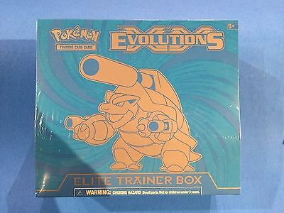 ( EVOLUTIONS ) - MEGA BLASTOISE - XY Elite trainer box - Sealed New! - Pokemon