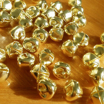 100pcs Gold Metal Small Jingle Bells for Gift key chains Christmas Decoration