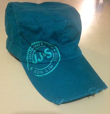 Jameson Irish Whiskey Hat Military Style Cap-New!- Distressed Size S/m Green