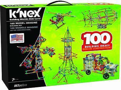 K'NEX 100 Model Building Set - 863 Pieces - Ages 7+ Engineering Educational Toy