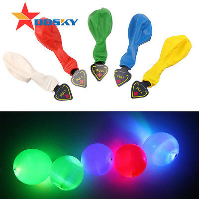 Good 5/10/50 Colorful Balloons Wedding Birthday Party Decor with LED Lamp Lights