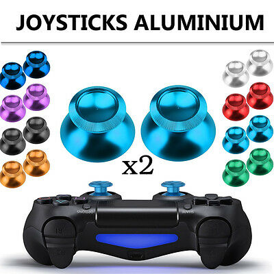 2X Joystick Cap Aluminum Analog For PS4 Xbox One Thumb Stick Cover Grip Metal