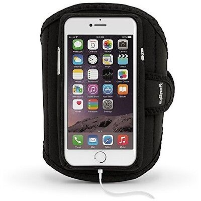 IGadgitz Water Resistant Black Sports Jogging Gym Armband For Apple IPhone 7