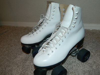 Vintage Ladies Riedell Sure Grip Roller Skates Red Wing Size 6 RARE!!
