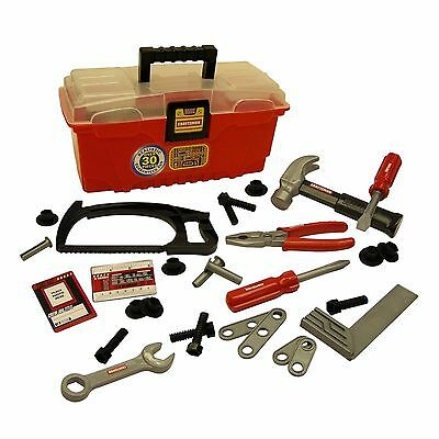 Tool Box Set My First Craftsman 30 Pcs Play Kids Pretend Realistic Toy Parts