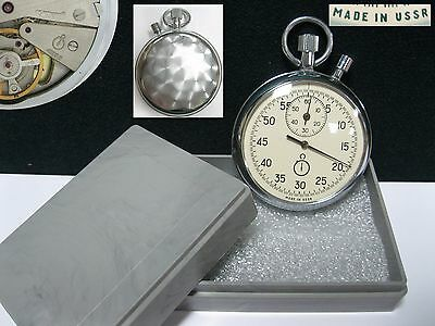 Soviet Russian STOP-WATCH AGAT 4295A 2 Buttons box #8497 MADE IN USSR