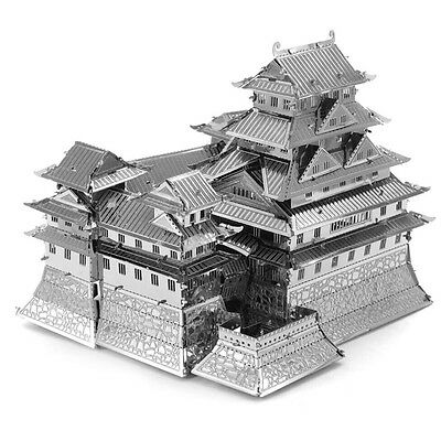 3D Japan Himeji Castle Model Steel Puzzle Jigsaw DIY Miniature Toy Laser Cut