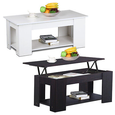 Modern Lift-Top Coffee Table Living Room Centre Table with Storage & Undershelf