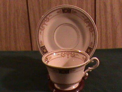 MINT Syracuse China Old Ivory Webster Pattern Cup and Saucer Set Made in America