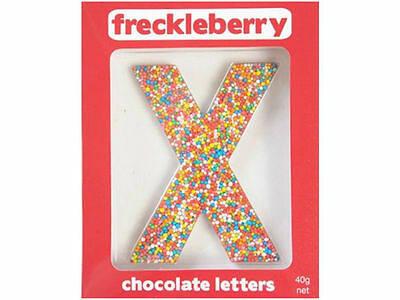 Letter X Chocolate Freckle Letter New Great Unique Gift Present Birthday