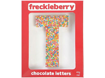 Letter T Chocolate Freckle Letter New Great Unique Gift Present Birthday