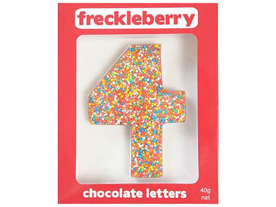 Number 4 Chocolate Freckle Number New Great Unique Gift Present Birthday