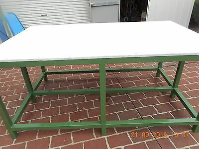 Work bench  steel frame  2000x1200x900  ( Cleaned Up Ready to Go)