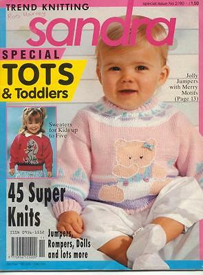 Knitting Pattern Book - From Baby To 5 Years Old - 45 Designs-