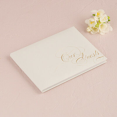 Pure Elegance Wedding Guest Book With Blank Pages Gold