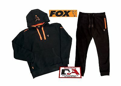 Fox New Black & Orange Complete Tracksuit Hoodie & Joggers *All Sizes*