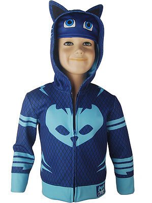 Kids Boys PJ Masks Catboy Connor Hoodie Jacket Halloween Costume Xmas Gift