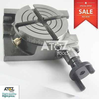 Atoz Rotary Table 3 Inches/75mm Horizontal & Vertical Model Milling Machine New