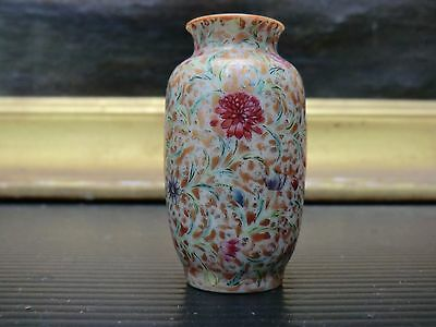 chinese miniature vase millefleurs Qianlong mark Qing dynasty 2,1 inches