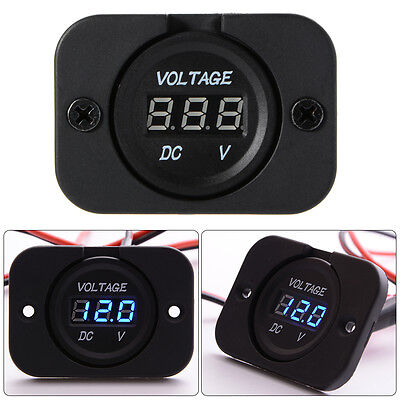 DC12V LED Digital Display Voltmeter Waterproof for Car Auto Marine Vehicle MA672