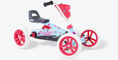 Kids Pedal Go Kart - Pink and Blue - BERG Buzzy Bloom