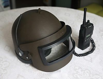 Russian Altyn assault helmet replica with face shield & radio headset