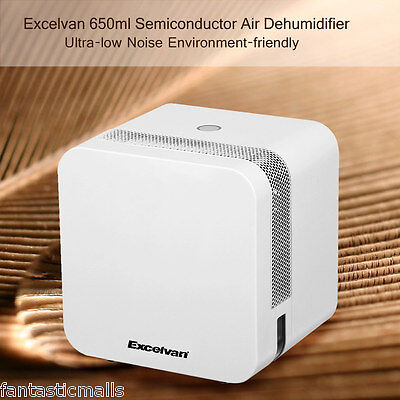 650ML Mini Electric Air Dehumidifier Purify Damp Remover Home Kitchen Bedroom UK