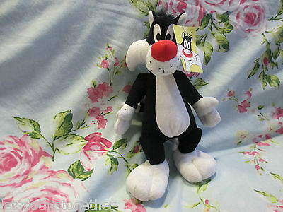 *TAGS* Warner Bros Looney Tunes Sylvester The Cat BOOTS Plush Soft Toy 12""