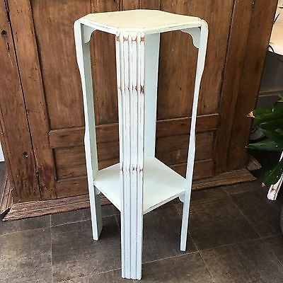 Vintage Painted Shabby Chic Revived Plant Stand