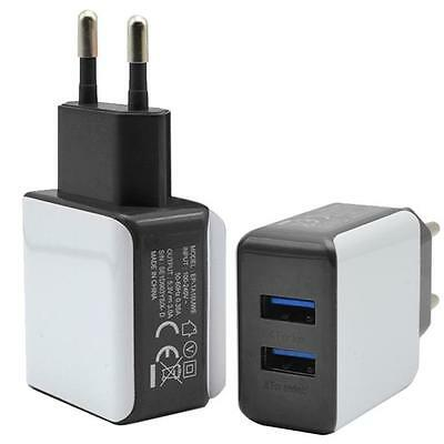 3A 2 Ports EU Plug USB Wall Travel AC Charger Adapter For Samsung Galaxy S7