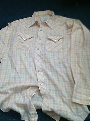 mens vintage western shirt large. Original