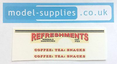 Matchbox 74A Mobile Canteen Refreshments Reproduction Waterslide Transfers Set