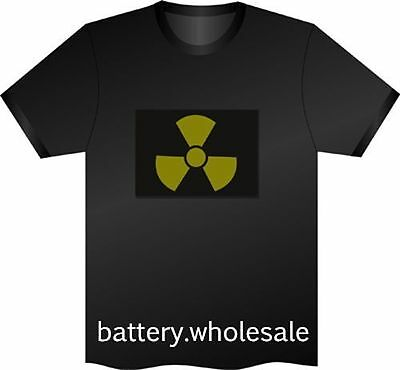 Music Sound Activated LED T-Shirt Radiative FREE batteries Pub | NO T-SHIRT