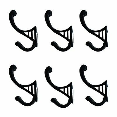 6 Black Wrought Iron Hook RSF 4 1/2 H X 2 3/4 Projection | Renovators Supply