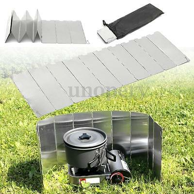 10 Plates Outdoor Foldable Portable Camping Cooking Gas Stove Wind Shield Screen