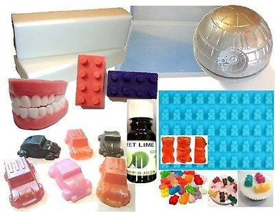 Young at Heart DIY Soap Making Kit, Melt and Pour, Easy, All you need! 4 Moulds