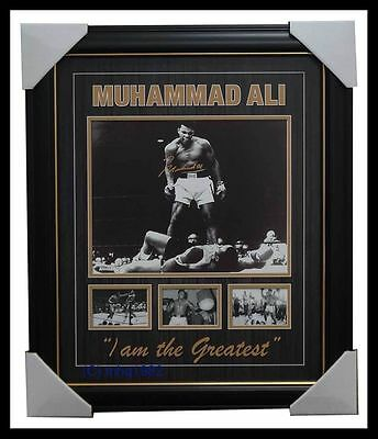 Muhammad Ali Signed Boxing Champion Photo Collage Framed -  I am the Greatest