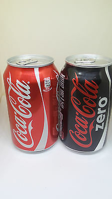 2 New empty cans of Coca Cola - for Baltia