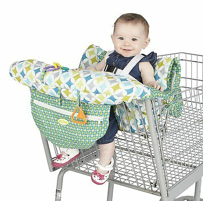 Nuby Shopping Cart High Chair Cover Universal Size Adjustable Safety Straps EUC