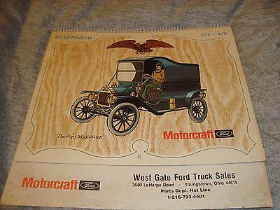 Vintage 1976 West Gate Ford Truck Sales  Youngstown Ohio Motorcraft Calendar