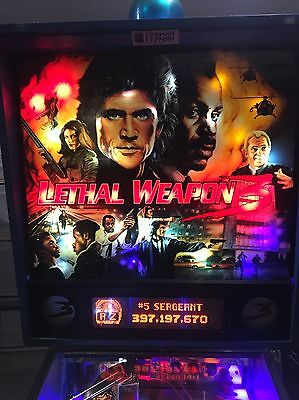 Pinball Leathal Weapon 3Leds Added